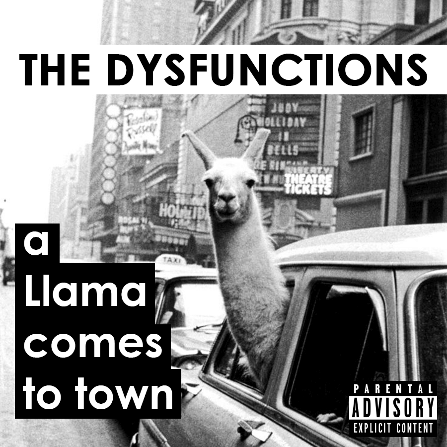Album cover for 'a Llama comes to town'